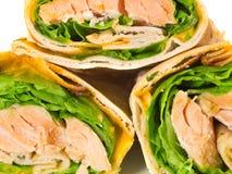 Sanduíches com salmões Fotos de Stock