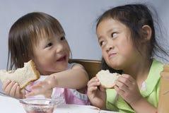Sanduíches da manteiga de amendoim fotografia de stock