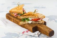 Sanduíches de clube caseiros Imagens de Stock