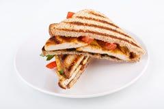 Sanduíches de galinha grelhados Imagens de Stock Royalty Free