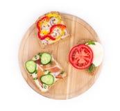 Sanduíches deliciosos Fotografia de Stock Royalty Free