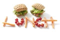 Sanduíches do almoço Fotos de Stock