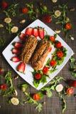 Sanduíches do café da manhã foto de stock royalty free