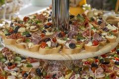 Sanduíches do Canape Fotos de Stock
