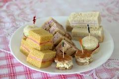 Sanduíches do chá Imagens de Stock Royalty Free