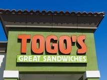Sanduíches do ` s de Togo exteriores Imagem de Stock