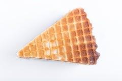 Sanduíches do waffle com o leite condensado fervido isolado no fundo branco fotos de stock