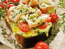 Sanduíches dos peixes Imagem de Stock