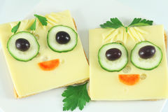 Sanduíches engraçados Foto de Stock