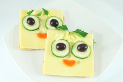 Sanduíches engraçados Fotografia de Stock Royalty Free
