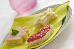Sanduíches engraçados das crianças Imagens de Stock
