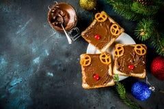 Sanduíches engraçados do Natal imagem de stock royalty free