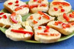 Sanduíches felizes Fotos de Stock
