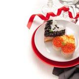Sanduíches na forma do coração imagens de stock royalty free