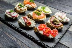 Sanduíches pequenos Imagem de Stock