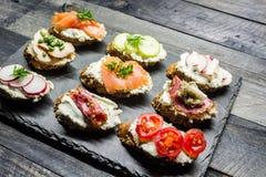 Sanduíches pequenos Foto de Stock