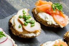 Sanduíches pequenos Foto de Stock Royalty Free
