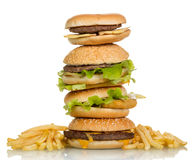 Sanduíches saborosos do Hamburger Fotos de Stock