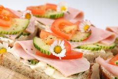 Sanduíches saudáveis Fotos de Stock Royalty Free