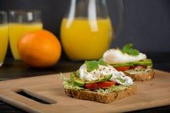 Sanduíches saudáveis para o café da manhã Foto de Stock