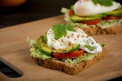 Sanduíches saudáveis para o café da manhã Fotografia de Stock