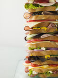 Sanduíche da torre de Dagwood Imagem de Stock Royalty Free