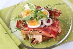 Sanduíche de clube delicioso Imagens de Stock Royalty Free