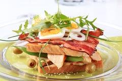 Sanduíche de clube delicioso Fotografia de Stock Royalty Free