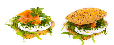 Sanduíche delicioso e saudável Fotos de Stock