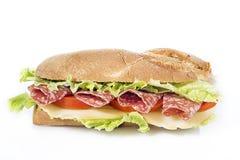 Sanduíche do salame Foto de Stock