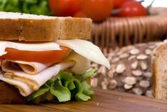 Sanduíche do supermercado fino Fotografia de Stock Royalty Free