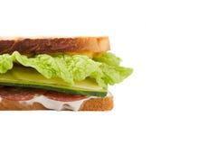Sanduíche em um fundo branco Imagem de Stock