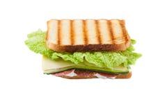 Sanduíche no fundo branco Fotografia de Stock Royalty Free