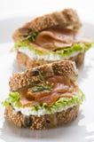 Sanduíche Salmon Imagem de Stock Royalty Free