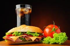 Sanduíche secundário do supermercado fino Foto de Stock