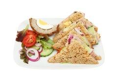 Sanduíches da salada do presunto Fotografia de Stock Royalty Free