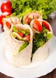 Sanduíches da tortilha Imagem de Stock Royalty Free