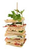 Sanduíches de clube Foto de Stock