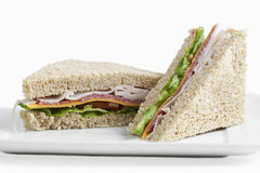 Sanduíches de clube Fotos de Stock