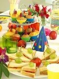 Sanduíches e queques Imagens de Stock Royalty Free