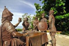 Sandugo, Blut-Vertrags-Schrein (Bohol, Philippinen) lizenzfreies stockbild