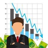 Sanduhr, Dollar und Euro Lizenzfreie Stockfotos