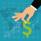 Sanduhr, Dollar und Euro Lizenzfreies Stockfoto