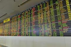 Sanduhr, Dollar und Euro Lizenzfreie Stockfotografie