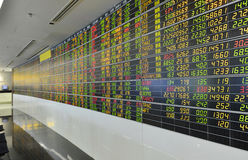 Sanduhr, Dollar und Euro Lizenzfreies Stockbild