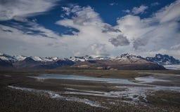 Sandur、冰岛的Skaftafell和冰川 免版税库存图片