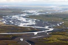 Sandur (冰河河滩),南冰岛 免版税库存图片