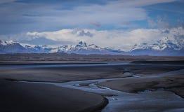 Sandur, Skaftafell en Gletsjers van IJsland Stock Afbeelding