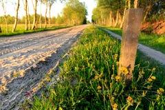 Sandväg i östliga Frisia arkivfoton