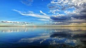 Sandveld de Suráfrica de la presa de Bloemhof, vrystaat Fotos de archivo